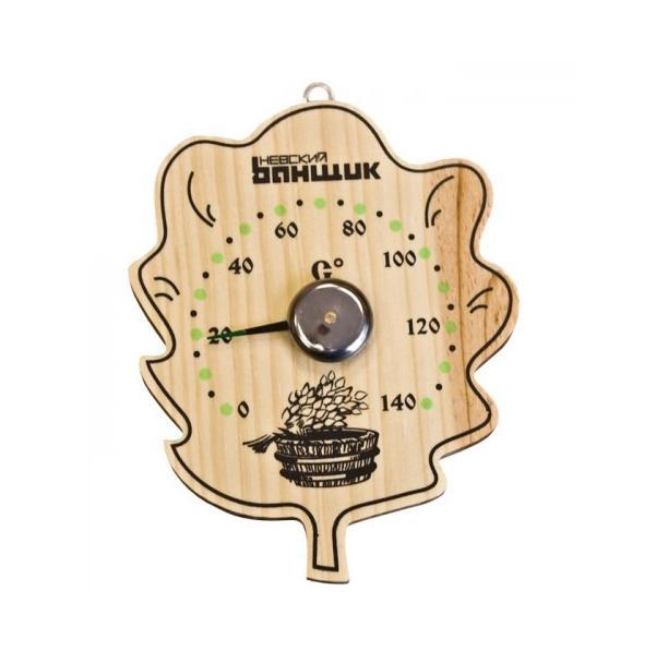 Термометр д/бани и сауны ЛИСТ