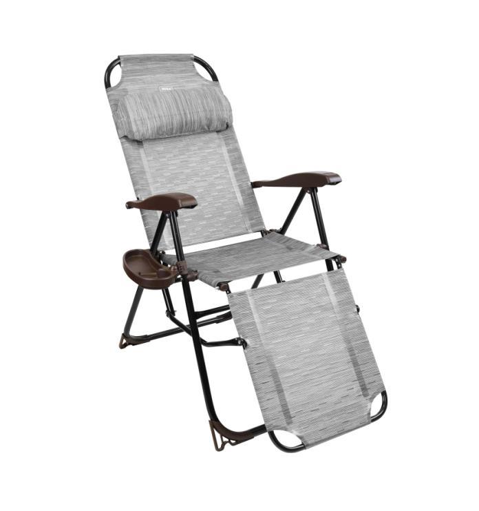 Кресло-шезлонг складн.НИКА КШ3 с подножкой