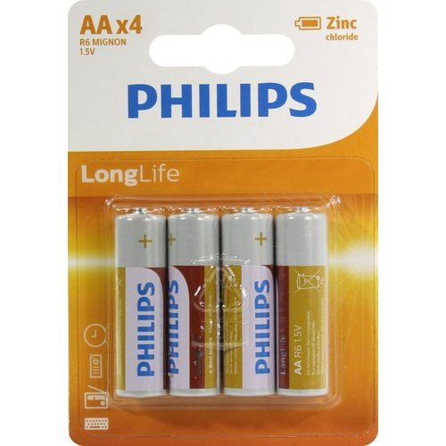 PHILIPS LONG LIFE BP4 zing R6 AA
